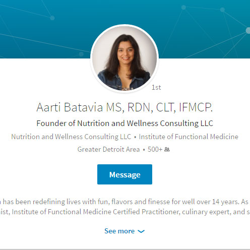 Aarti Batavia | Nutrition Wellness Consulting | Functional Medicine ...