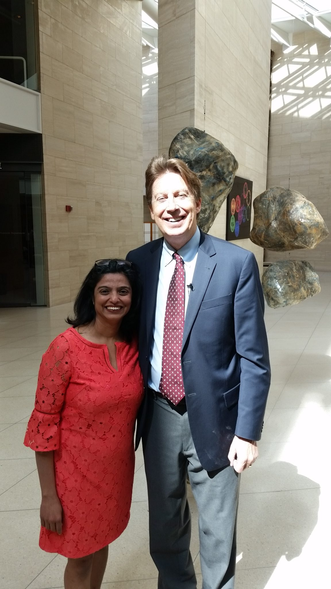 Dr. Bredesen and Aarti Batavia at a conference
