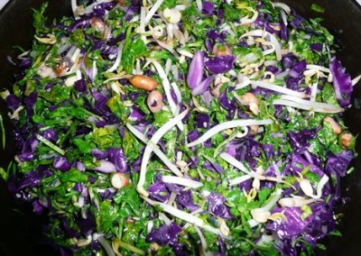 Naughty Peanuts with Watercress and Cabbage